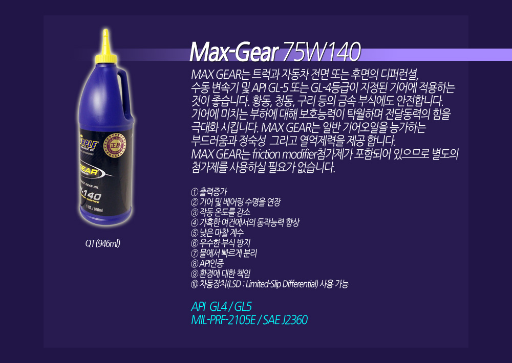 Royal Purple MaxGear 75W140